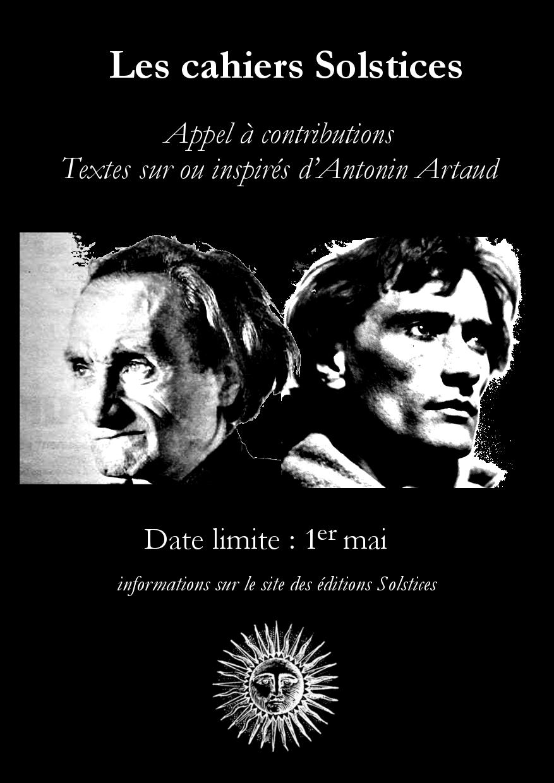 Cahiers Solstices Antonin Artaud