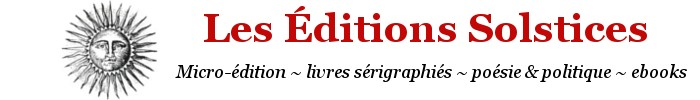 Les Éditions Solstices
